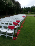Red and White outdoor wedding